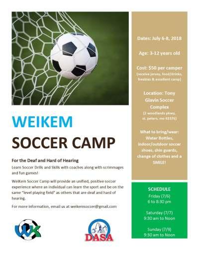 WeiKem Soccer Camp Flyer