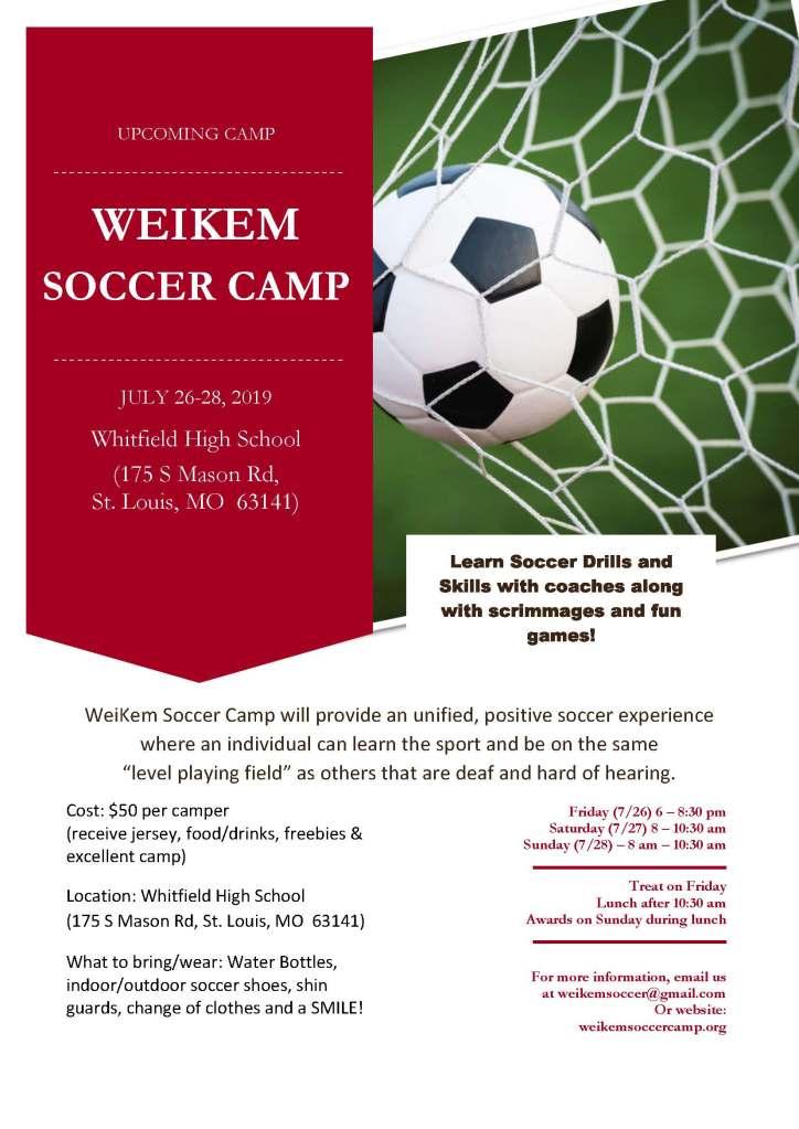 2019 WeiKem Soccer Camp